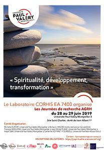 Affiche Journées de Recherche Spiritualité